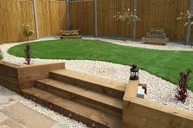 Small Picture garden sleepers steps backyard decorating ideas retaining wall