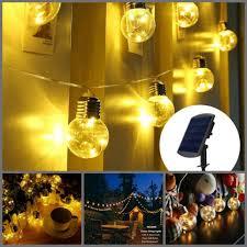 g40 globe string lights led crystal ball 15 clear bulbs indoor outdoor light