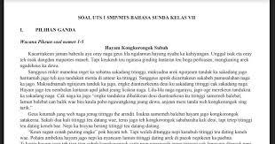 Soal dan kunci jawaban pat bahasa inggris. Soal Pts Bahasa Sunda Kelas 7 Sem 1 Kurikulum 2013 Jawaban Soal Pelajaran