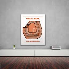 Baltimore Orioles Seating Chart Print Of Vintage Baltimore Orioles Park Baseball Seating Chart