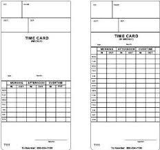 Bi Weekly Time Card Acroprint 09 1000 001 Model T111 Weekly Bi Weekly Time Card 250