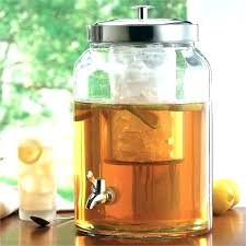 glass beverage dispenser with spigot metal gallon drink replacement lid for core 24 wi