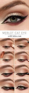 lulus how to merlot cat eye makeup tutorial at lulus