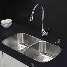 White Kitchen Sink Undermount Kraus Stainless Steel 3225 X 18 Double Basin Undermount Kitchen