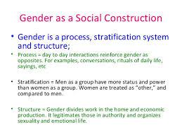 gender as a social construct gender