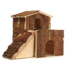 wooden house villa cage exercise toys for hamster hedgehog mouse rat guinea pig 20 19