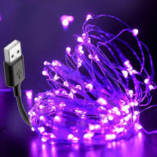 Black Light Usb 10m Usb Led String Black Light Uv Christmas Halloween Diy Bar Lamp Waterproof Germicidal Stage Haunted Disinfection Ultraviolet