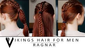 Viking Hairstyle Female vikings hair tutorial for men ragnar lothbrok youtube 4153 by wearticles.com