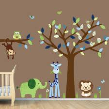 Small Picture Green Tree Wall Decal Closed To Small Nursery Room Bench With