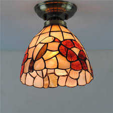 7 style birds s ceiling light terranean vintage stained glass hanging lamp lighting fixtures