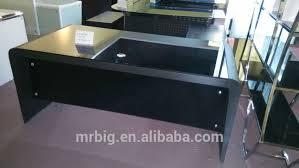 tempered glass office desk. Black Tempered Glass Computer Desk,glass Office Desk,stainless Steel Desk MR- U