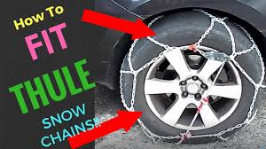 Thule Snow Chains Fit Chart How To Fit Thule Xg 12 Pro Snowchains