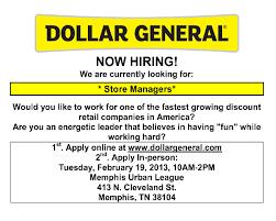 Dollar General Job Fair Memphis Urban League 2 19 13 Job