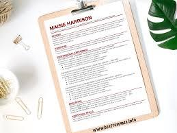 Resume Template Maisie Harrison