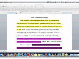 essay rough draft highlighter activity