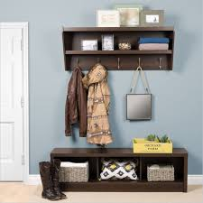 Hall Coat Rack With Storage Inspiration Entryway Wood Hall Tree Coat Rack Storage Bench Entryway Storage