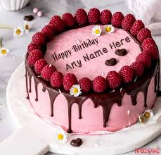 raspberry birthday cake with name edit