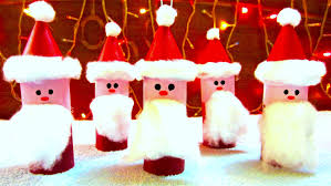 Christmas Decoration Toilet Paper Roll Santa Claus Ornaments How To Make Christmas