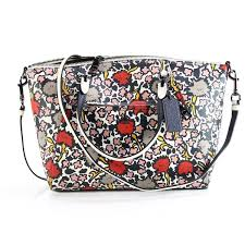 Coach NEW Prairie Floral Printed Multicolor Satchel Leather Handbag