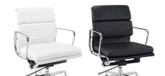 sleek office chairs. Lexington Modern Mid-Back Leather Office Chair Black And White Sleek Chairs O