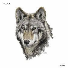 Tcool волк временные татуировки наклейки татуировки животных для женщин мода Sexy Body