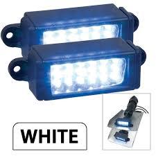 perko surface mount trim tab underwater lights pair white