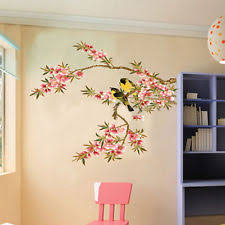 creative removable flower pvc wall stickers art decals home kitchen decor uk on asian wall art uk with buy flowers plants trees asian oriental wall decals stickers ebay