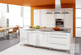 High Gloss Kitchen Cabinets in Contemporary Kitchen
