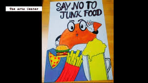 Junk Food Chart How To Draw A Junk Food Say No To Junk Food Chart For Kids Project Easy By The Arts Center