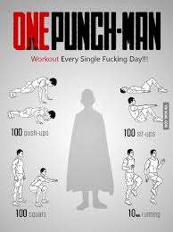 One Punch Man Workout - 9GAG via Relatably.com