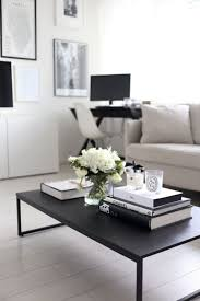 Living Room: Monochromatic Themed Coffee Table - Modern Coffee Table