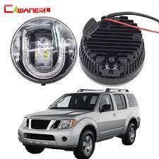 2017 Nissan Pathfinder Fog Light Installation Us 77 82 49 Off Cawanerl 2 Pieces Car Accessories Led Front Fog Light Drl Daytime Running Lamp 12v For 2005 2015 Nissan Pathfinder R51 In Car Light
