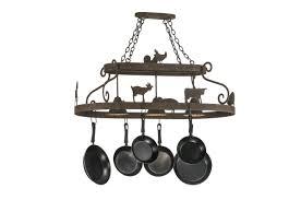 pot rack chandelier with downlights chandeliers design lighting ideas