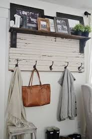 Rustic Wall Coat Rack With Shelf I kind of like this for the entry wall in living room Home 62