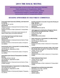 Trb Community Impact Assessment 2018 Trb Announcement Flyer 1