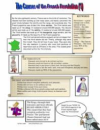 causes of the french revolution worksheet pdf   causes of the french revolution