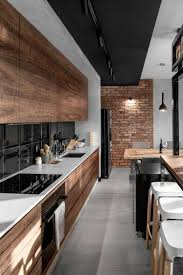 Black Cabinets Against Brick Wall 12 Simple Brick Kitchen