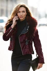 starr calfskin fur moto jacket with