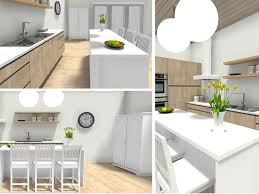 diffe views of a kitchen design created with roomsketcher home designer