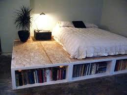 diy king size platform bed plans.  Plans Build Platform Bed Plans Woodworking Diy King Size  With Drawers Intended