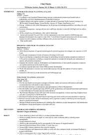 Strategic Planning Analyst Sample Resume Strategic Planning Analyst Resume Samples Velvet Jobs 1