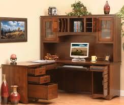 corner office desk hutch. Prairie Mission L-Shaped Desk Corner Office Hutch O