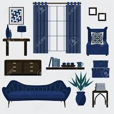 Living Room Accessory Living Room Furniture And Accessories In Color Navy Blue Royalty