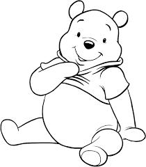 Disegno Di Winnie The Pooh Seduto Da Colorare