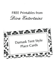 Rustic Printable Table Place Cards Free Card Template Wedding Tent