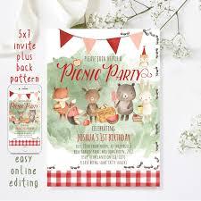 Picnic Invitation Template Company Free Ms Kristis Party