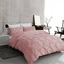 dusky pink pintuck duvet cover 100
