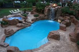 Backyard Pool With Waterfall Design Pools For Home