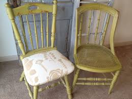 furniture green wooden small kitchen chair with beige flower fabric seat and vintage legs