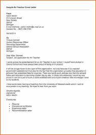 Sample Art Teacher Cover Letter Cover Letter For Teacher Fresher Cover Letter No Work